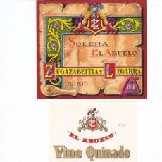 Etiquetas antiguas: BONITO LOTE DE ETIQUETAS ANIS VINO LICOR CATUCHY NUEVAS. Lote 42223959