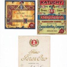 Etiquetas antiguas: LOTE ETIQUETAS DE LICORES NUEVAS VER DETALLE. Lote 42223999