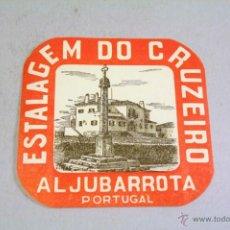 Etiquetas antiguas: ETIQUETA PEGATINA PARA MALETA. ESTALAGEM DO CRUZEIRO. ALJUBARROTA. AÑOS 40-50. Lote 42853012
