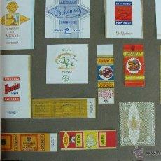 Etiquetas antiguas: GRUESO ÁLBUM / MUESTRARIO DE ETIQUETAS.78 PGS. CARAMELOS, CHOCOLATES, LICORES,... MUY BUEN ESTADO. Lote 43584816