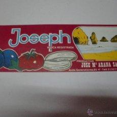 Etiquetas antiguas: JOSEPH ETIQUETA ALMERIA. Lote 43606194