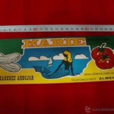 Etiquetas antiguas: ETIQUETA MARIE ALMERIA . Lote 43606226