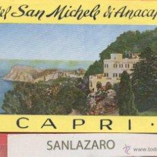 Etiquetas antiguas: ETIQUETA DE HOTEL - *HOTEL SAN MICHELE DI ANACAPRI* - CAPRI - ITALIA - EH195. Lote 43859675