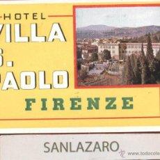 Etiquetas antiguas: ETIQUETA HOTEL - HOTEL VILLAS. PAOLO - FIRENZE - ITALIA - EH191. Lote 43860132
