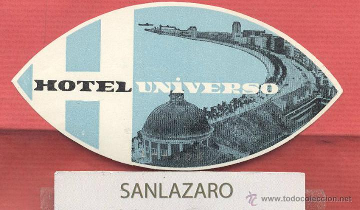 ETIQUETA DE HOTEL - *HOTEL UNIVERSO* - LISBOA - PORTUGAL - EH498 (Coleccionismo - Etiquetas)