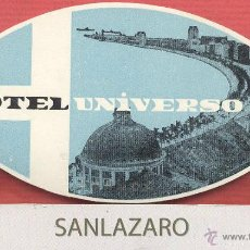Etiquetas antiguas: ETIQUETA DE HOTEL - *HOTEL UNIVERSO* - LISBOA - PORTUGAL - EH498. Lote 43891060