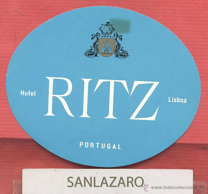 ETIQUETA DE HOTEL - *HOTEL RITZ* - LISBOA - PORTUGAL - EH495 (Coleccionismo - Etiquetas)