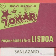 Etiquetas antiguas: ETIQUETA HOTEL - PENSAO RESIDENCIAL DE TOMAR - LISBOA - PORTUGAL - EH513. Lote 43903495
