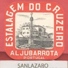 Etiquetas antiguas: ETIQUETA HOTEL - HOTEL ESTAGEM DO CRUZEIRO - ALJUBARROTA - PORTUGAL - EH531. Lote 43941395