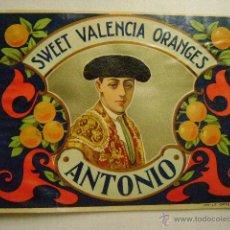 Etiquetas antiguas: ETIQUETA DE NARANJAS .ANTONIO.E.171. Lote 142345489