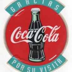 Etiquetas antiguas: MUY ANTIGUA PEGATINA DE COCA COLA. AÑOS 60 - 70. RECUERDO DE VISITA A LA FÁBRICA.. Lote 44083874