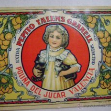 Etiquetas antiguas: ETIQUETA PARA NARANJAS .PEPITA TALENS GRANELL.F-191. Lote 210154945