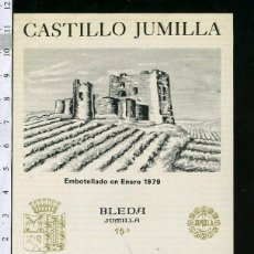 Etiquetas antiguas: ETIQUETA VINO CASTILLO JUMILLA COSECHA 1975. Lote 44639495