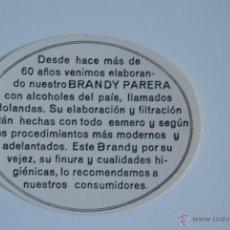 Etiquetas antiguas: ETIQUETA BRANDY PARERA . Lote 44911085