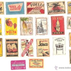 Etiquetas antiguas: LOTE 20 ETIQUETAS COMERCIALES ANTIGUAS FRANCIA. Lote 46139811