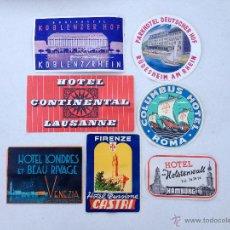 Etiquetas antiguas: LOTE 7 ANTIGUAS ETIQUETAS HOTELES # PA031. Lote 46143362