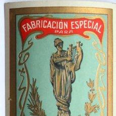 Etiquetas antiguas: ETIQUETA COLOMER Y MUNTÁN ESTAMPA COMERCIAL ANTIGUA. Lote 46210941