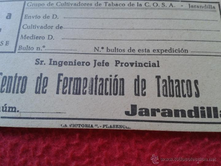 Etiquetas antiguas: ANTIGUA ETIQUETA GUIA O SIMILAR DE CARTON CENTRO FERMENTACION TABACOS JARANDILLA CULTIVADORES COSA - Foto 2 - 46526276