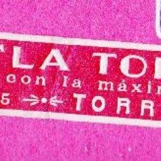 Etiquetas antiguas: ETIQUETA GASEOSA LA TORRENTINA. TORRENTE, VALENCIA.. Lote 46651501