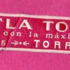 Etiquetas antiguas: ETIQUETA GASEOSA LA TORRENTINA. TORRENTE, VALENCIA.. Lote 46651527