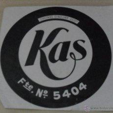 Etiquetas antiguas: ETIQUETA KAS . Lote 47049801