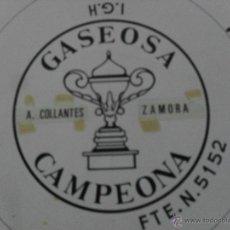 Etiquetas antiguas: ETIQUETA DE GASEOSA CAMPEONA . Lote 47152480