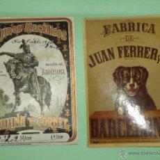 Etiquetas antiguas: 5 ETIQUETAS ANTIGUAS DE CONFECCION.. Lote 47296100