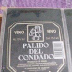 Etiquetas antiguas: ETIQUETA VINO FINO PALIDO DEL CONDADO ANDRADE. Lote 48463858