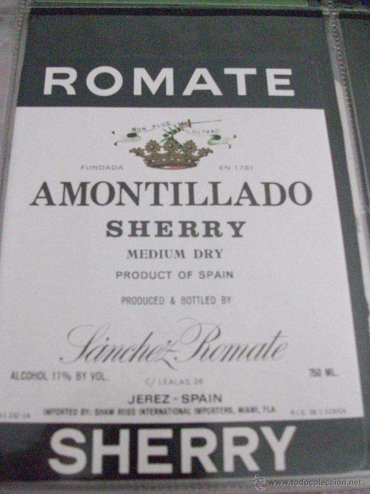 Etiquetas antiguas: ETIQUETA AMONTILLADO SHERRY MEDIUM DRY - Foto 1 - 48491900