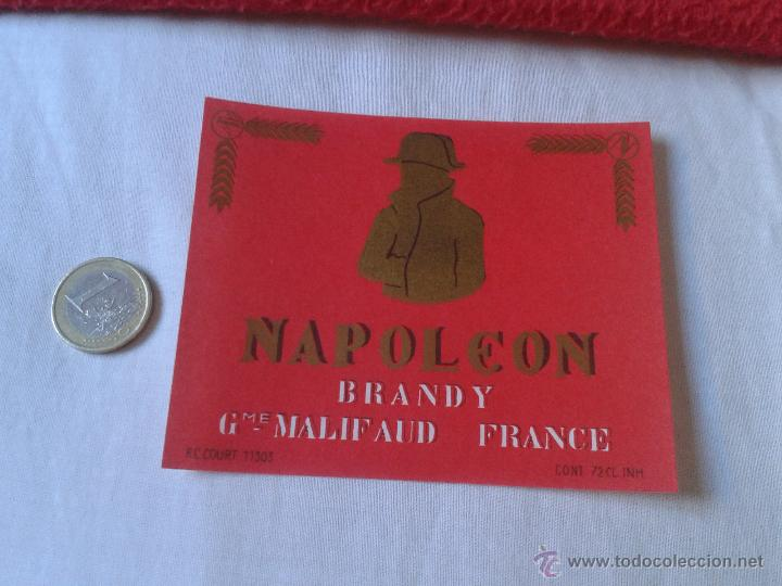 ESCASA ETIQUETA LABEL VINO LICOR O SIMILAR DE FRANCIA ? NAPOLEON BRANDY GME MALIFAUD FRANCE IDEAL CO (Coleccionismo - Etiquetas)