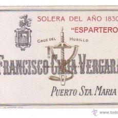 Etiquetas antiguas: ETIQUETA DE VINO.PUERTO DE SANTA MARIA.. Lote 49465321