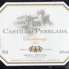 Etiquetas antiguas: ET0292, ETIQUETA DE CAVA, CASTILLO DE PERELADA, CHARDONNAY, COSECHA 1997. Lote 49530030