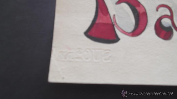 Etiquetas antiguas: MAQUETA PINTURA ORIGINAL de 1926 PARA CARTEL O ETIQUETA COGNAC BARBIER BUEN ESTADO brandy coñac - Foto 4 - 49651427