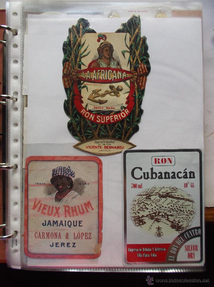 LOTE DE MAS DE 350 ETIQUETAS DE RHON ESPAÑOLAS Y EXTRANJERAS MUY ANTIGUAS. (Coleccionismo - Etiquetas)