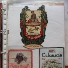 Etiquetas antiguas: LOTE DE MAS DE 350 ETIQUETAS DE RHON ESPAÑOLAS Y EXTRANJERAS MUY ANTIGUAS.. Lote 49673175