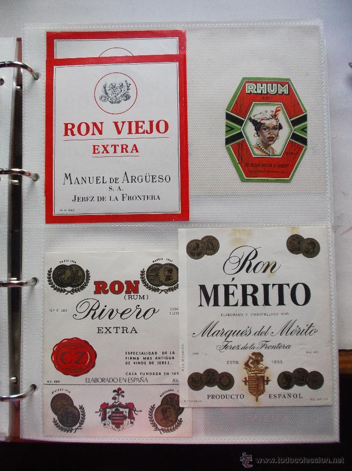 Etiquetas antiguas: LOTE DE MAS DE 350 ETIQUETAS DE RHON ESPAÑOLAS Y EXTRANJERAS MUY ANTIGUAS. - Foto 5 - 49673175