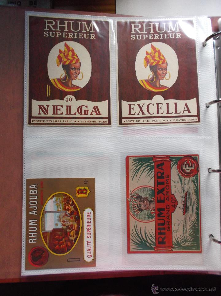 Etiquetas antiguas: LOTE DE MAS DE 350 ETIQUETAS DE RHON ESPAÑOLAS Y EXTRANJERAS MUY ANTIGUAS. - Foto 10 - 49673175