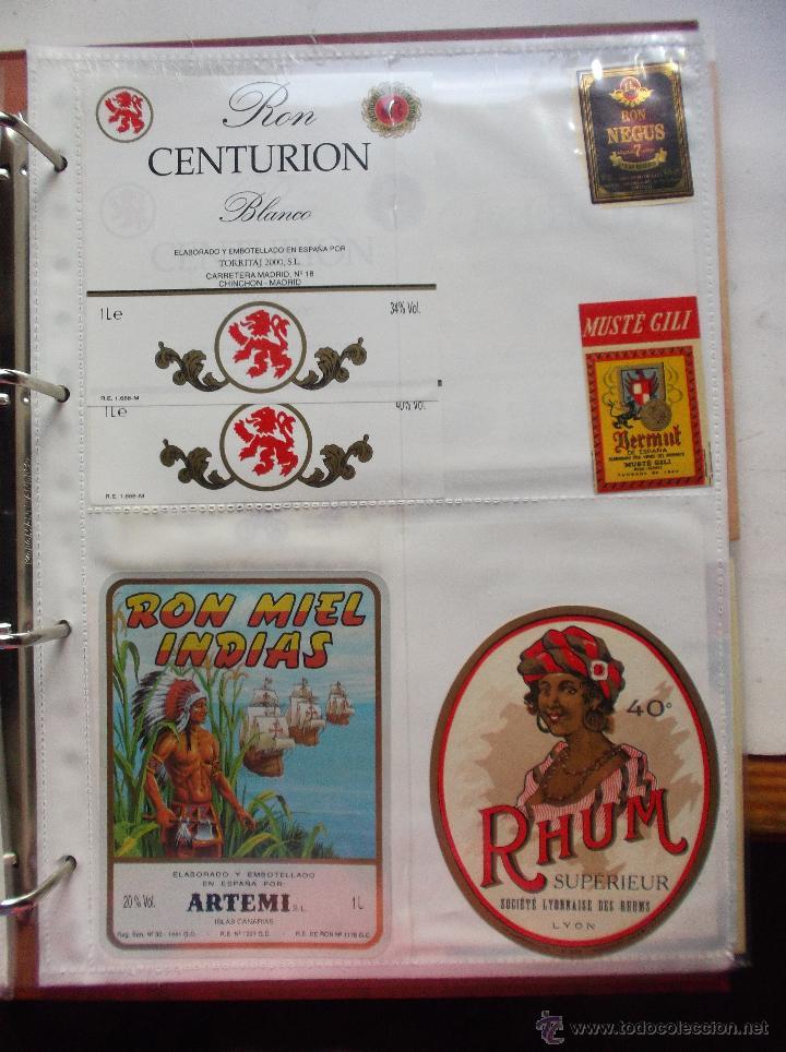 Etiquetas antiguas: LOTE DE MAS DE 350 ETIQUETAS DE RHON ESPAÑOLAS Y EXTRANJERAS MUY ANTIGUAS. - Foto 13 - 49673175