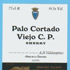 Etiquetas antiguas: ETIQUETA DE VINO.JEREZ DE LA FRONTERA.. Lote 50109058