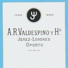 Etiquetas antiguas: ETIQUETA DE VINO.JEREZ DE LA FRONTERA.. Lote 50109070