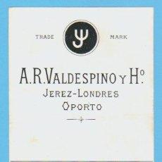 Etiquetas antiguas: ETIQUETA DE VINO.JEREZ DE LA FRONTERA.. Lote 50109080