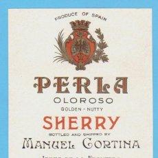 Etiquetas antiguas: ETIQUETA DE VINO.JEREZ DE LA FRONTERA.. Lote 50109114