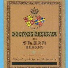 Etiquetas antiguas: ETIQUETA DE VINO.JEREZ DE LA FRONTERA.. Lote 50109187