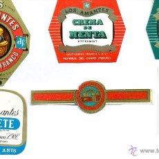 Etiquetas antiguas: MONREAL DEL CAMPO.DESTILERIAS PASCUAL FRANCO ETIQUETAS BOTELLAS. Lote 50173744
