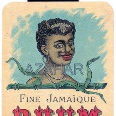 Etiquetas antiguas: ETIQUETA RHUM. FINE JAMAIQUE. 11 X 9,5 CM. Lote 50492043