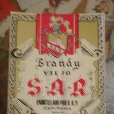 Etiquetas antiguas: BRANDY VIEJO S.A.R. - CARIÑENA SPAIN . Lote 50711250