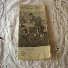 Etiquetas antigas: CARTILLA DE PUNTOS PARA REGALOS VÉGÉ,COMPLETA. Lote 50858915