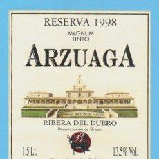 Etiquetas antiguas: ETIQUETA DE VINO.RIBERA DEL DUERO.. Lote 50884910