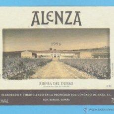 Etiquetas antiguas: ETIQUETA DE VINO.RIBERA DEL DUERO.. Lote 50885009