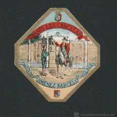 Etiquetas antiguas: ETIQUETA DE ANIS.MÁLAGA.. Lote 51039552